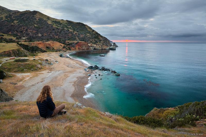 Trail At Sunset Beach Ca